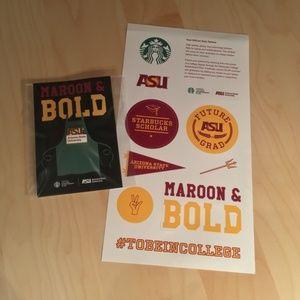 Starbucks // ASU pin and stickers